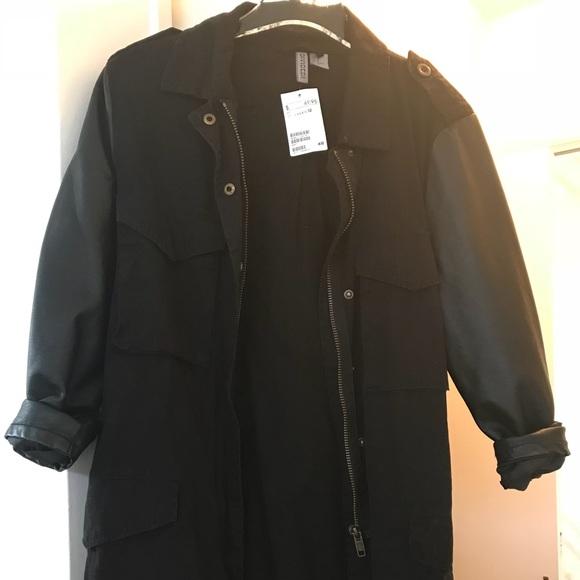 Black Military Style Jacket 6679106c1cb